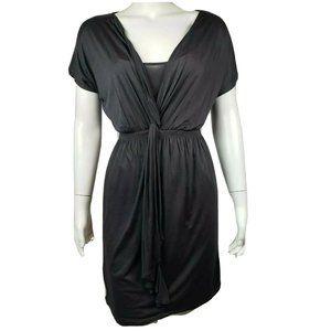 ANN TAYLOR LOFT Gray Short Sleeve Dress XS